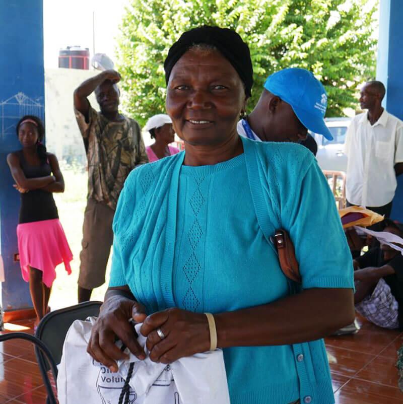 Solange a beneficiary in Haiti