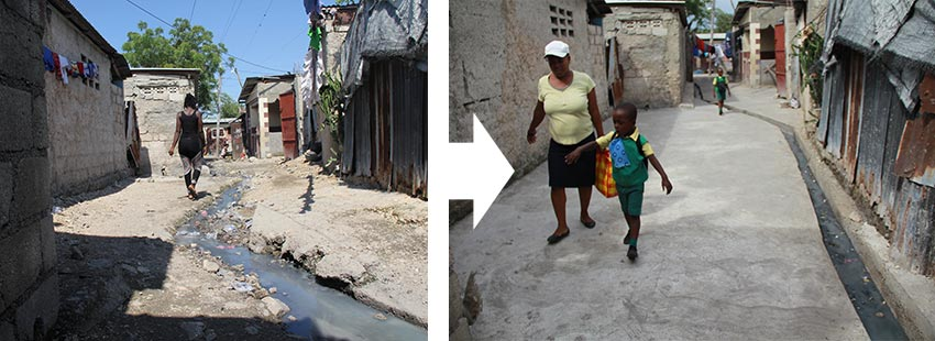 Aid in Haiti Before After Reconstruction