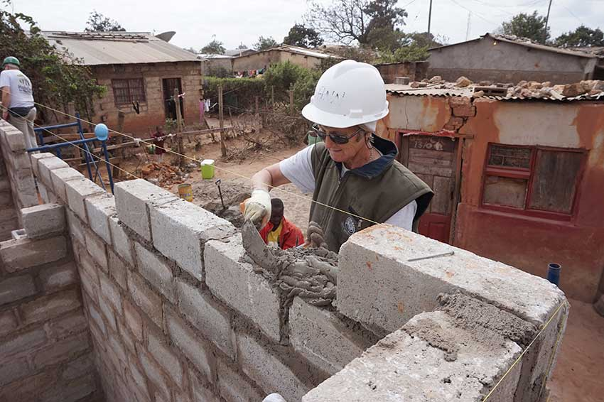 fighting extreme poverty and social exclusion in Zambia: building homes