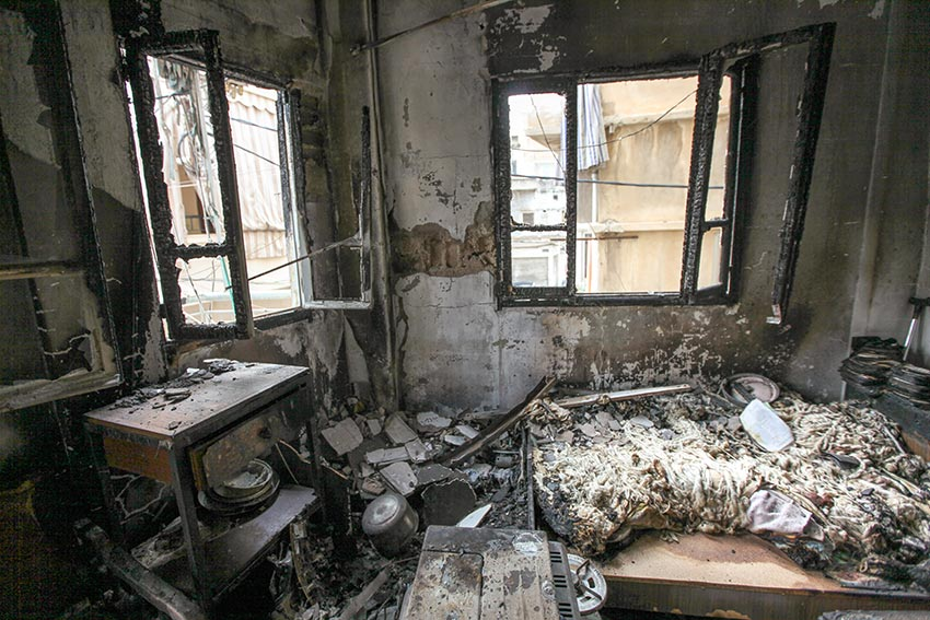 bombed homes Lebanon - destruction