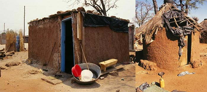 extreme poverty in Botswana: shack housing