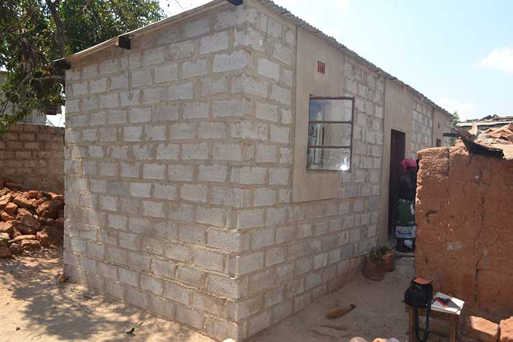 Volunteers in Zambia built a home for a vulnerable family