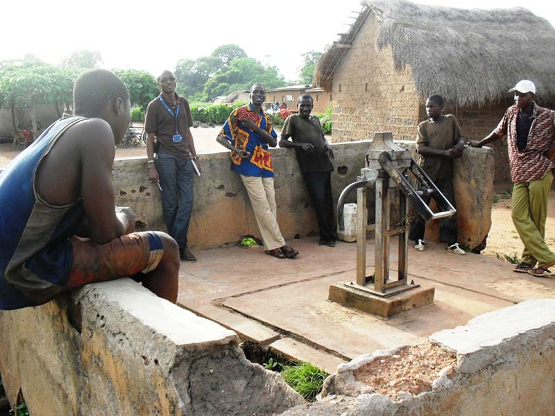 building safe water pumps in cote d'ivoire