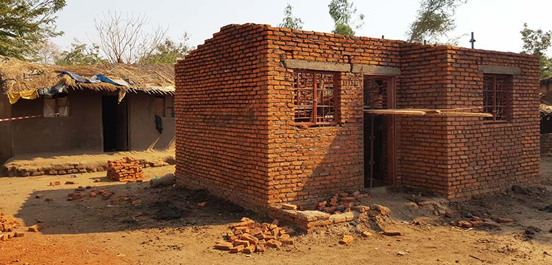 Building social housing Malawi with corporate volunteers