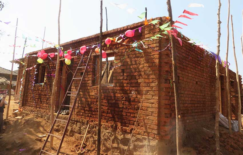 celebrating new home in india: affordable social housing in rural india