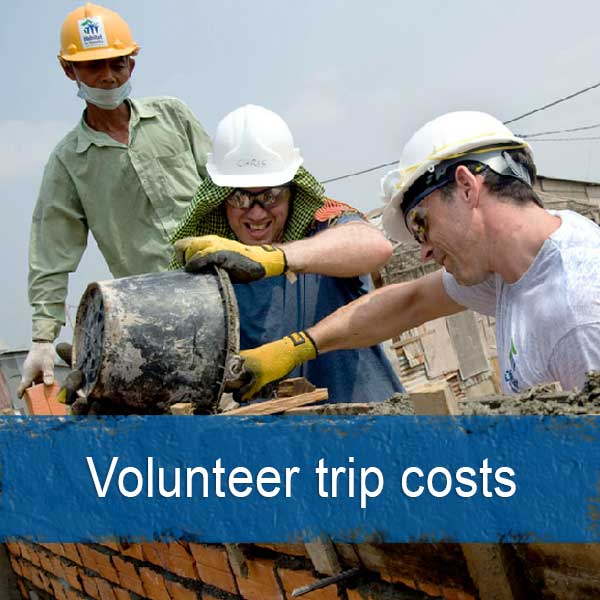 Volunteer abroad trip costs