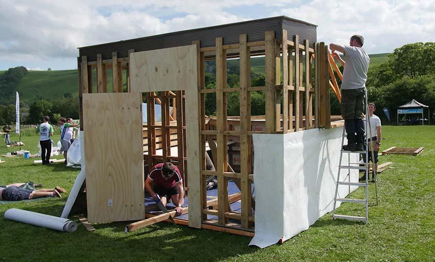 Hope Challenge Miller Homes Building Shelter for Charity