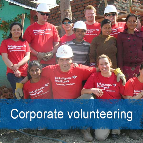 Corporate volunteering opportunities abroad
