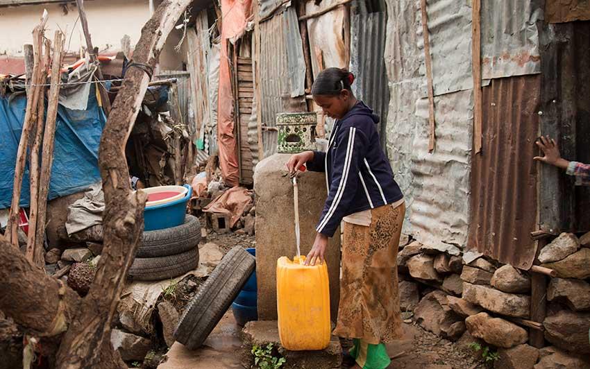 Poverty in Addis Ababa slums rehabilitation