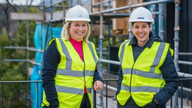 Women Build: Nicola and Gill preparing for construction