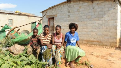 A beneficiary family from Zambia
