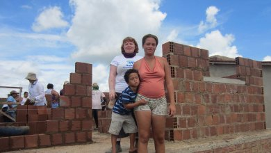 A beneficiary family in Brazil