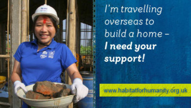 I'm travelling overseas to volunteer and build a home