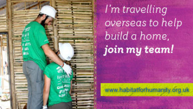 I'm volunteering abroad to help build a home