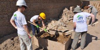 Volunteers building in Tajikistan