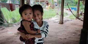 Young beneficiaries in Cambodia