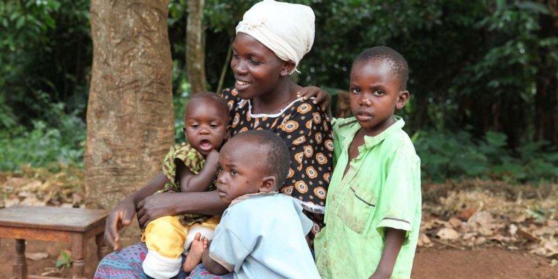 a beneficiary family in Uganda