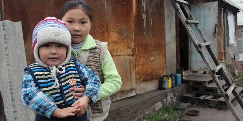 A family in need Kyrgyzstan