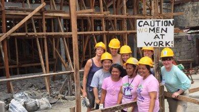 caution women at work