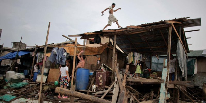 Disaster relief in the Philippines: typhoons and slums