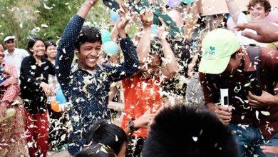 handing over celebration Cambodia