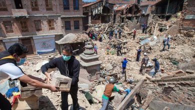 Natural disaster relief charity response for emergency work