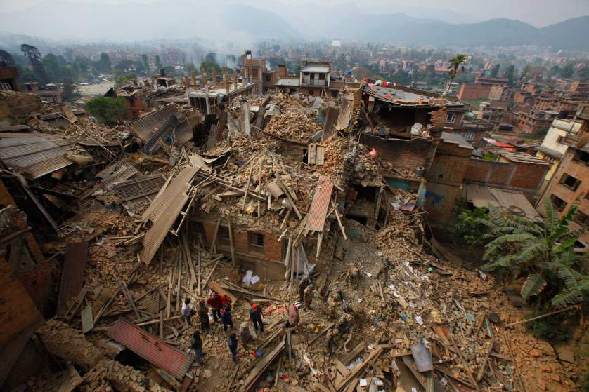 Nepal earthquake aftermath & damage