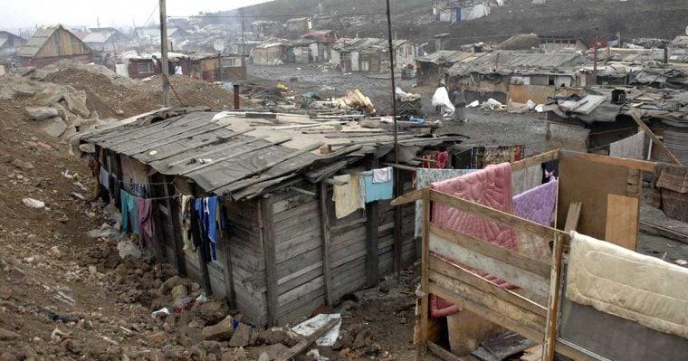 slum housing romania