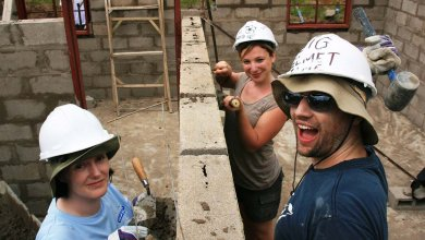 south africa volunteers building social housing