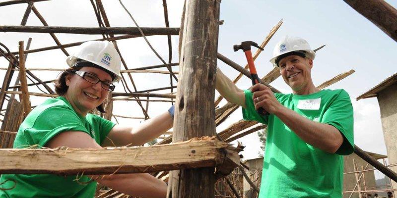 volunteers building affordable housing ethiopia
