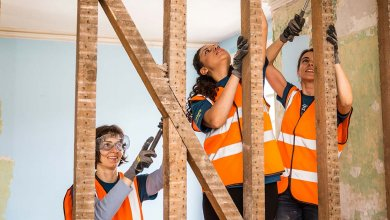 volunteers renovate housing poverty great britain