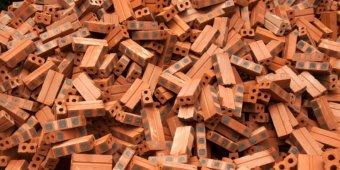 working in Myanmar bricks