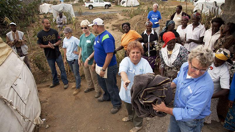 volunteers build homes for vulnerable children in Kenya