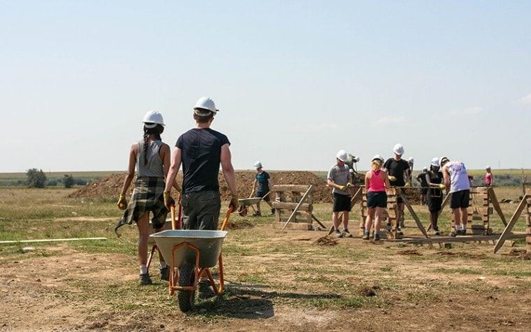 Addleshaw team in Romania