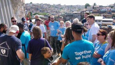 Volunteer celebration in Recife, Brazil
