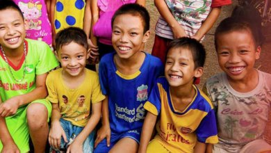 Vietnam typhoon children