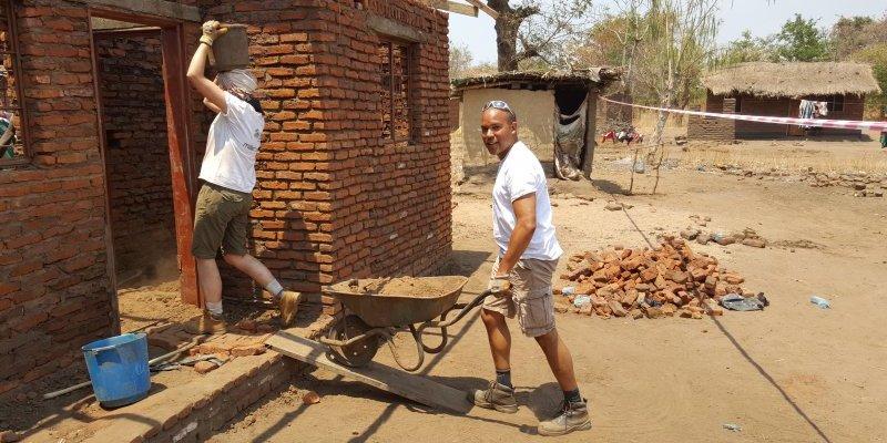 Tum Kazunga and Miller Volunteer Malawi