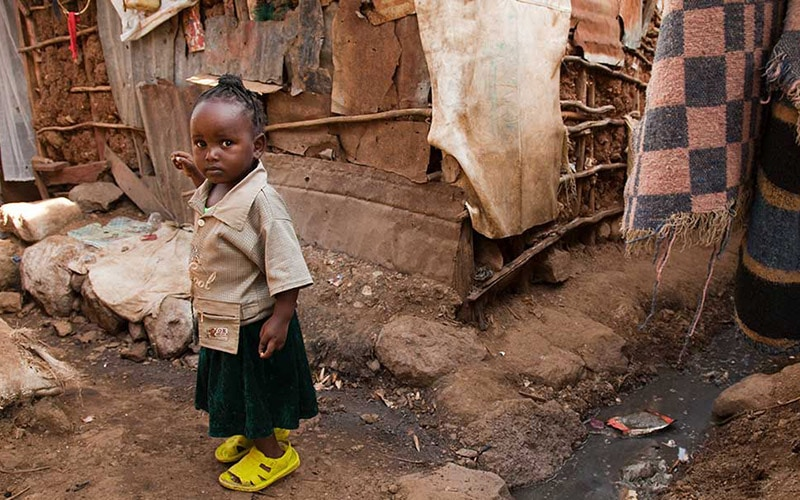children in slums Ethiopia
