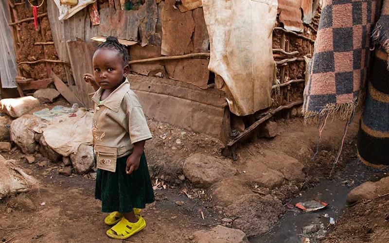 children in slums Ethiopia