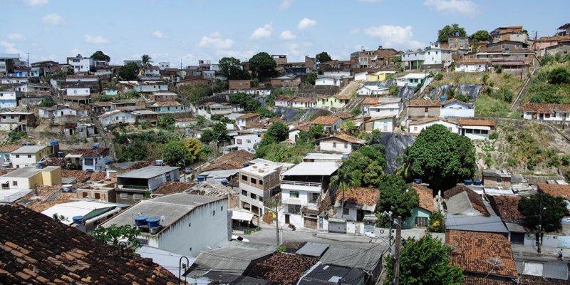 Bomba favela in Recife, Brazil