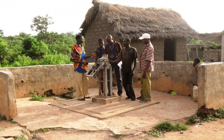 installing water pumps in cote d'ivoire