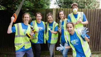 P&G team renovating women's refuge
