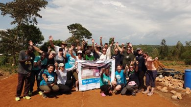 Homes for Scotland volunteers in Kenya