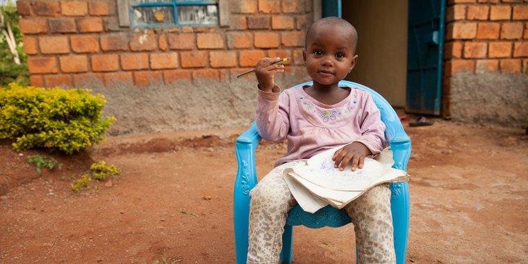 Young girl in Kenya